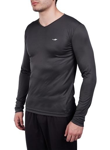 Lescon Antrasit Erkek Uzun Kol T-Shirt 20S-1223 Gri